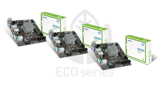 MSI Eco Mainboards mit Braswell