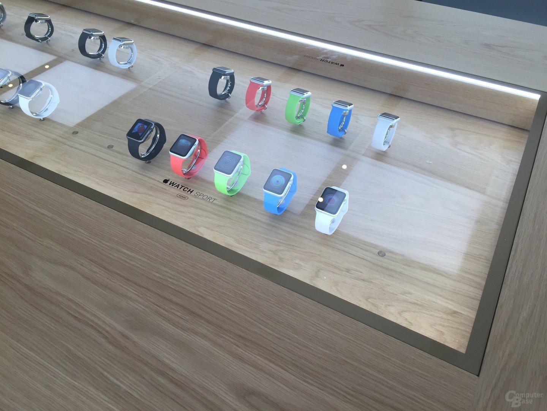 Die Apple Watch im Apple Store in Hannover