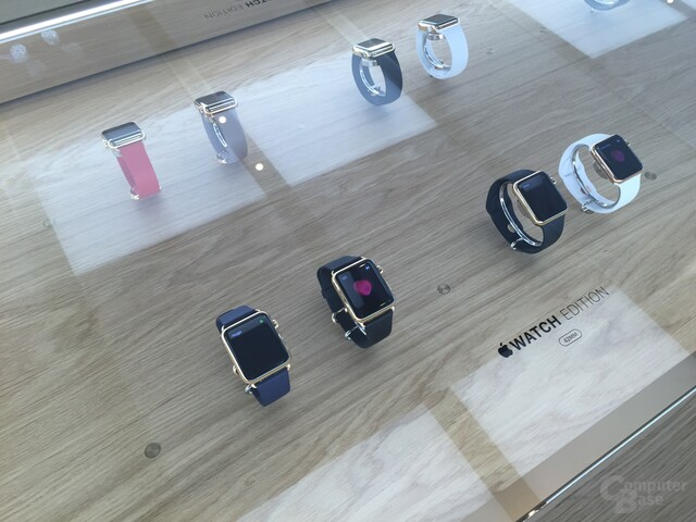 Die Apple Watch im Apple Store in Hannover