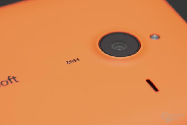 Die Kamera mit Optik von Zeiss