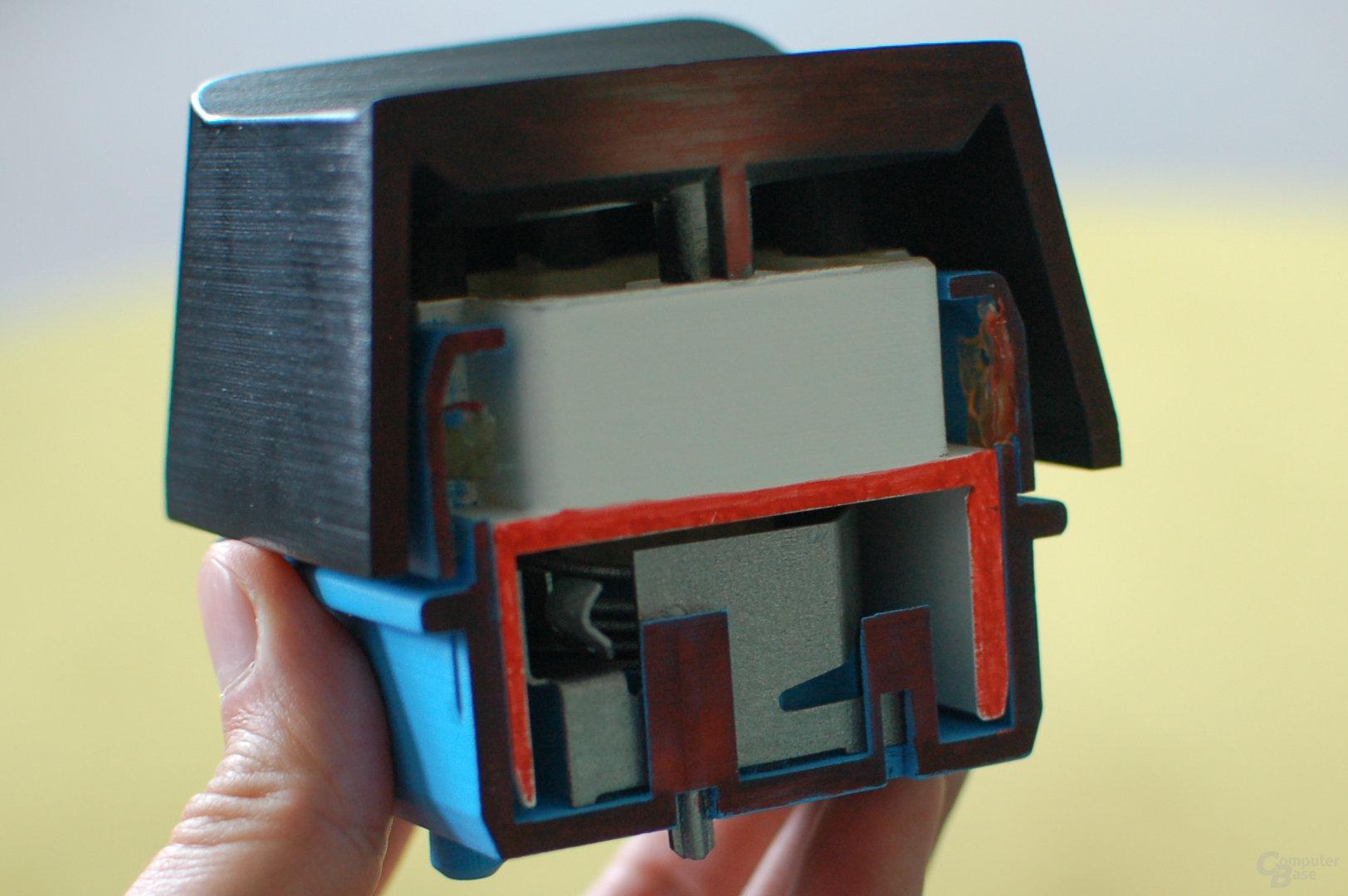 Querschnittsmodell des Romer-G-Tasters
