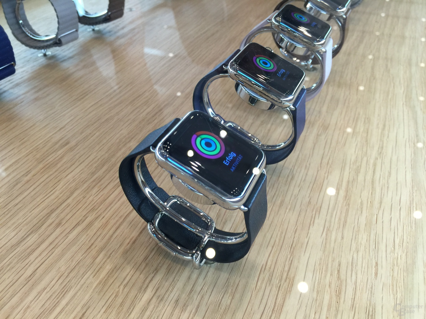 Apple Watch mit Lederarmband