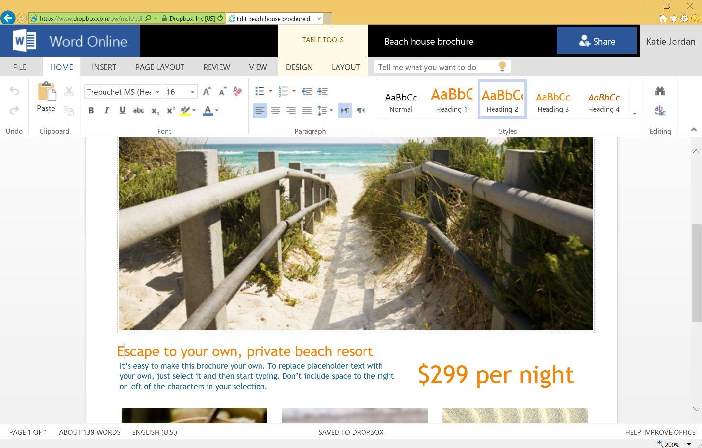 Office Online für die Bearbeitung in Dropbox nutzen