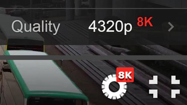 8K: YouTube spielt 4320p-Videos mit über 33 Megapixel ab