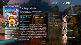 The Lego Movie auf Vudu