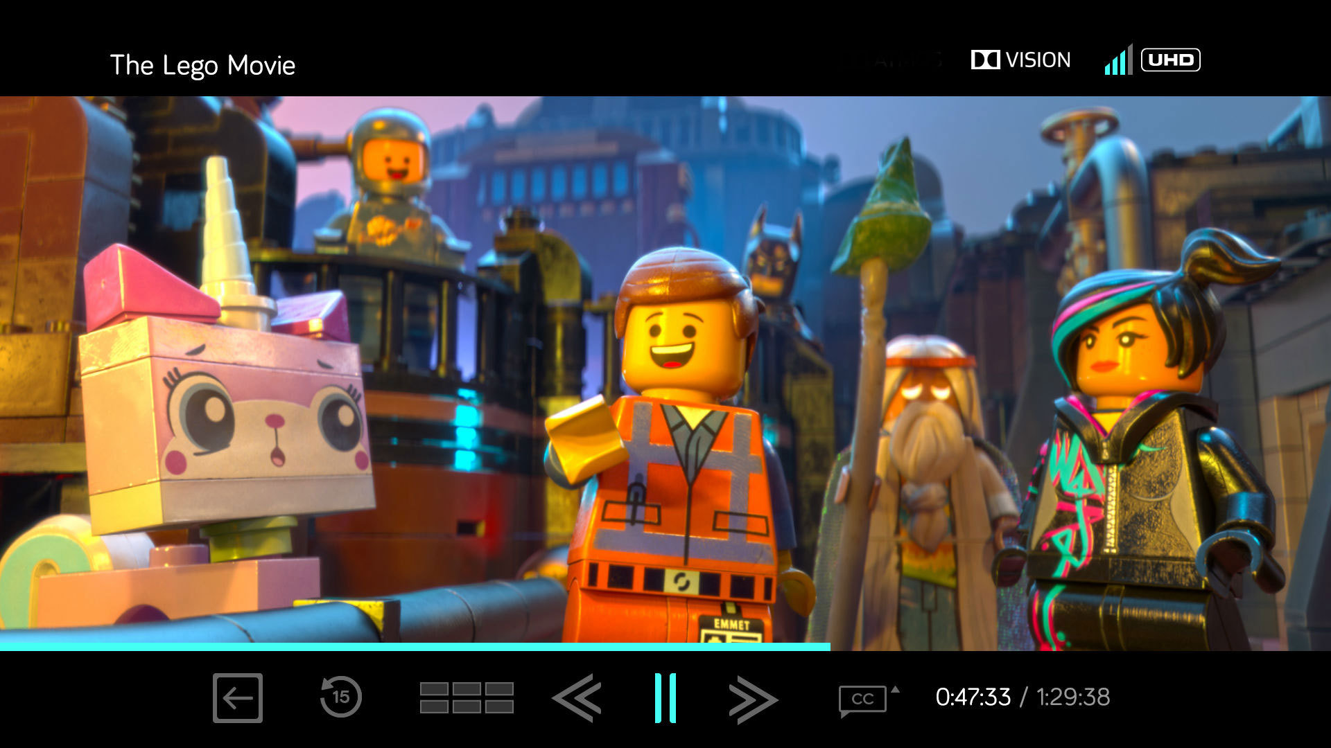 The Lego Movie im Vudu Player