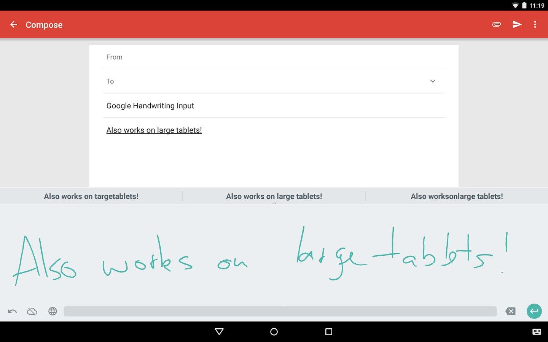 Google Handschrifterkennung