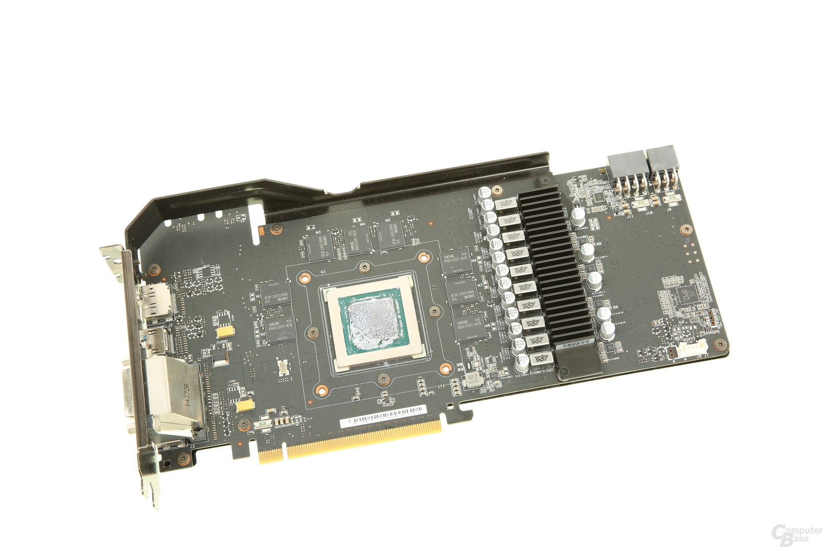 Das PCB der GeForce GTX 980 Strix