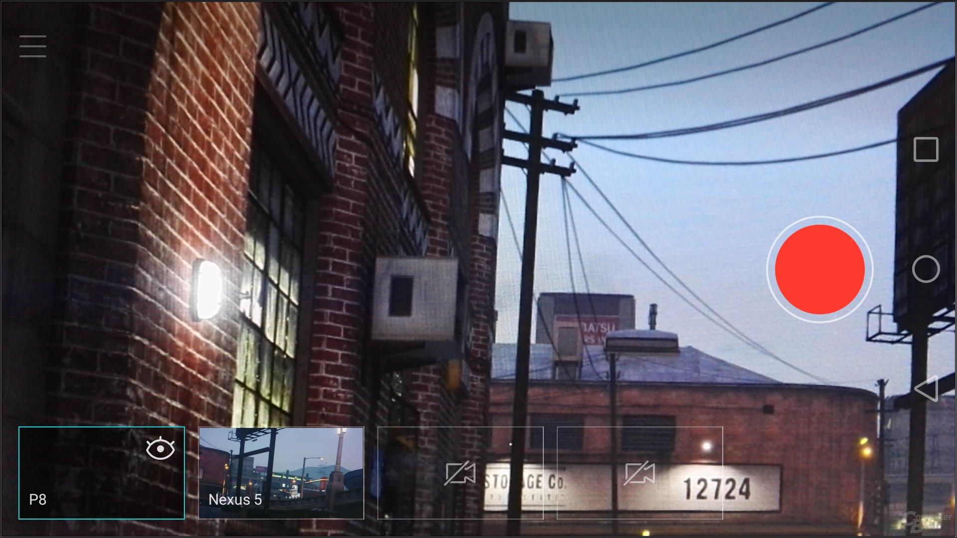 Regisseur-Modus – Mit verbundenem Nexus 5