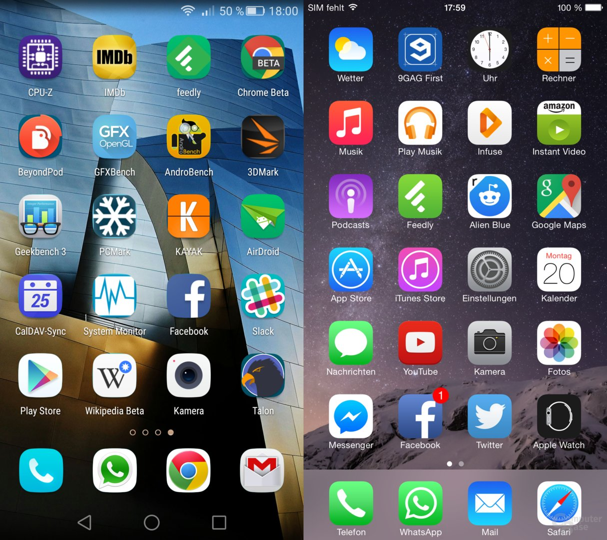 P8 / iOS – Homescreen