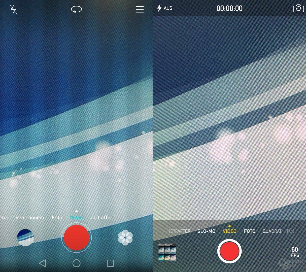 P8 / iOS – Videomodus