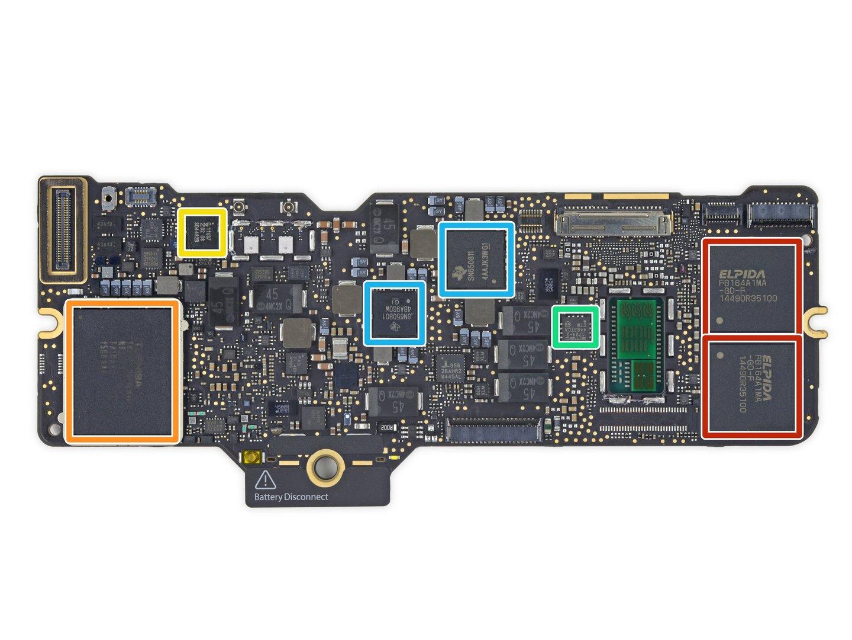 Weitere 128 GB MLC-NAND-Flash auf der Rückseite (orange)