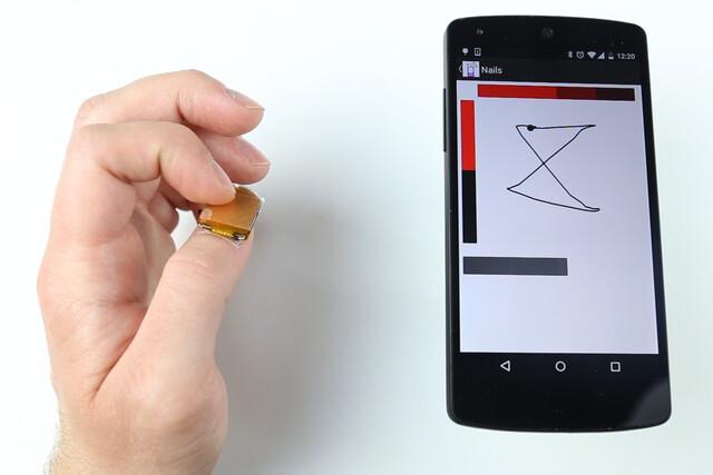 Übertragung der Wischgesten auf ein Smartphone