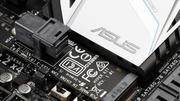 Mainboards: Asus ist mit BIOS und Adapter für NVMe-SSDs gerüstet