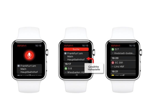 DB Navigator auf der Apple Watch