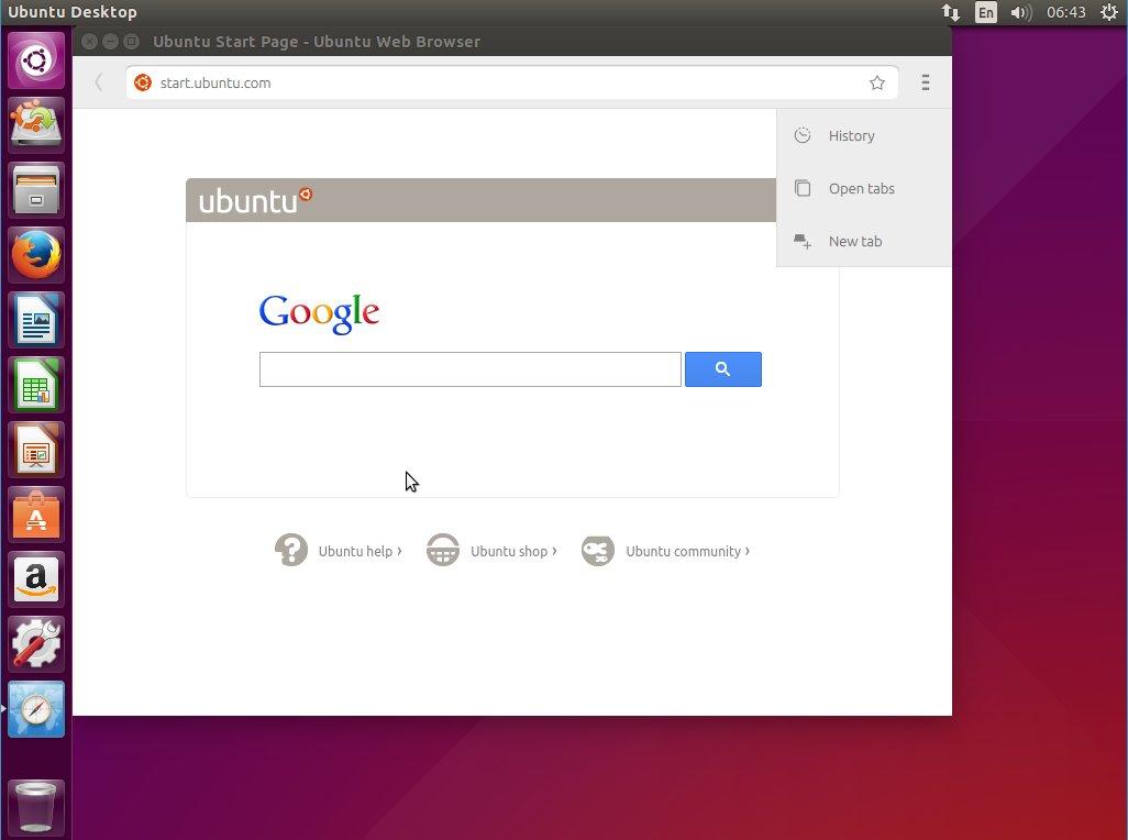 Ubuntu Browser