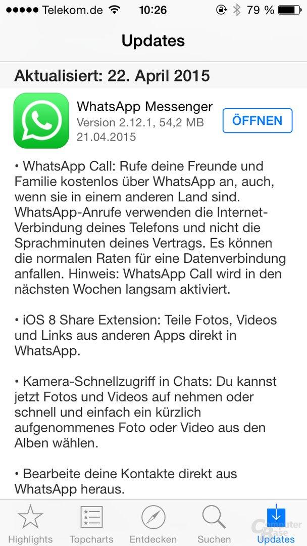 Neue WhatsApp-Version gibt VoIP-Telefonie frei