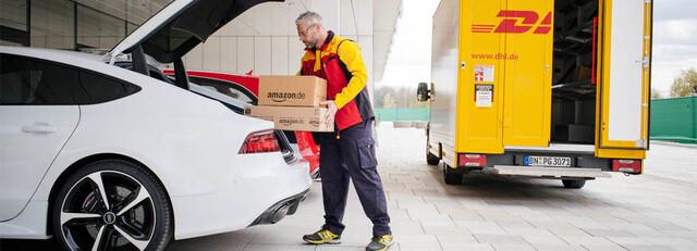 Amazon liefert in den Kofferraum des Kunden