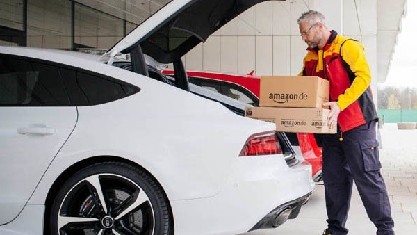 Amazon: Kofferraumzustellung als Pilotprojekt mit Audi