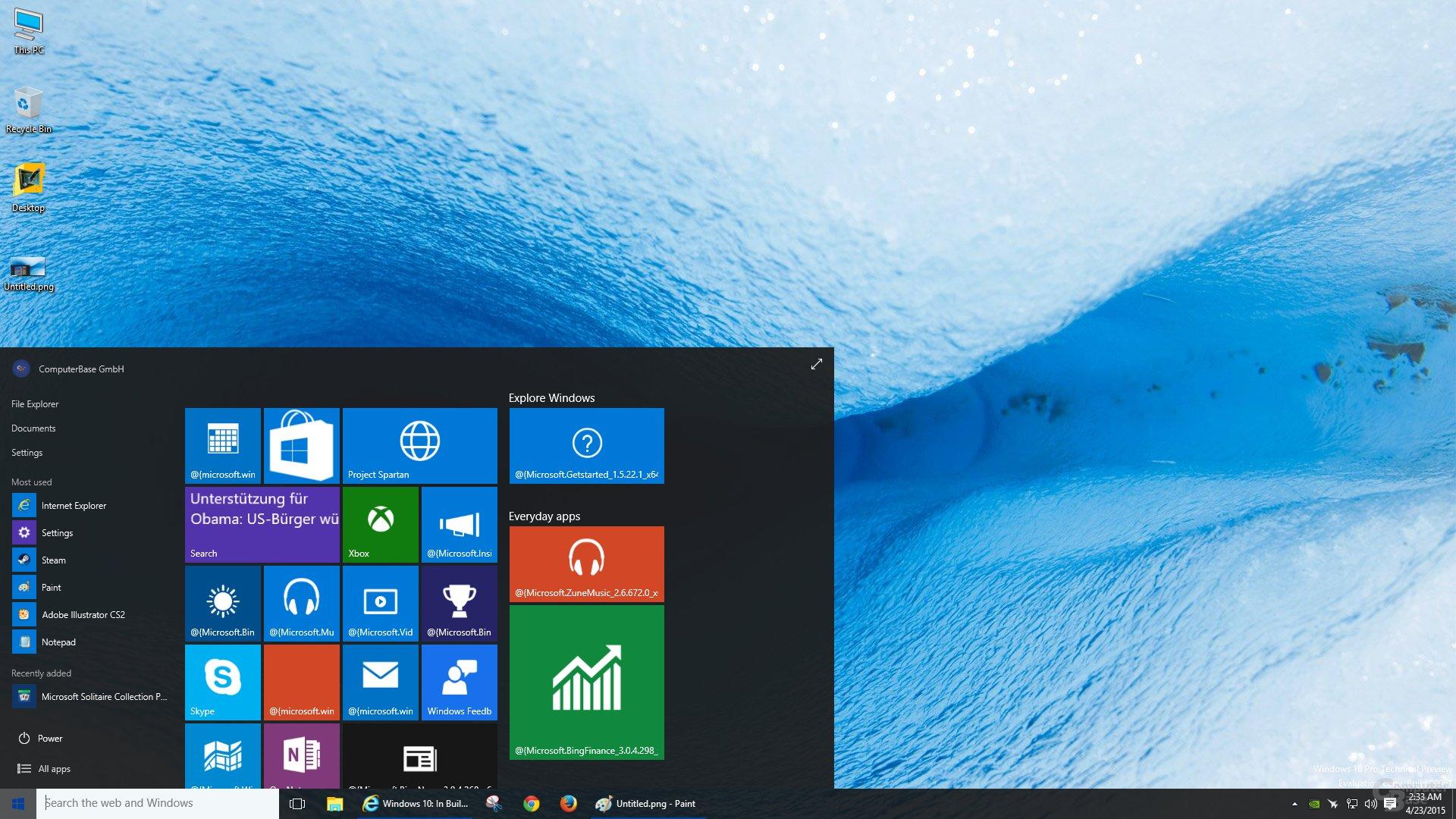 Das neue schwarze Theme in Windows 10 Build 10061