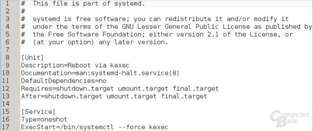 Startdatei für kexec unter Systemd (deklarativ)
