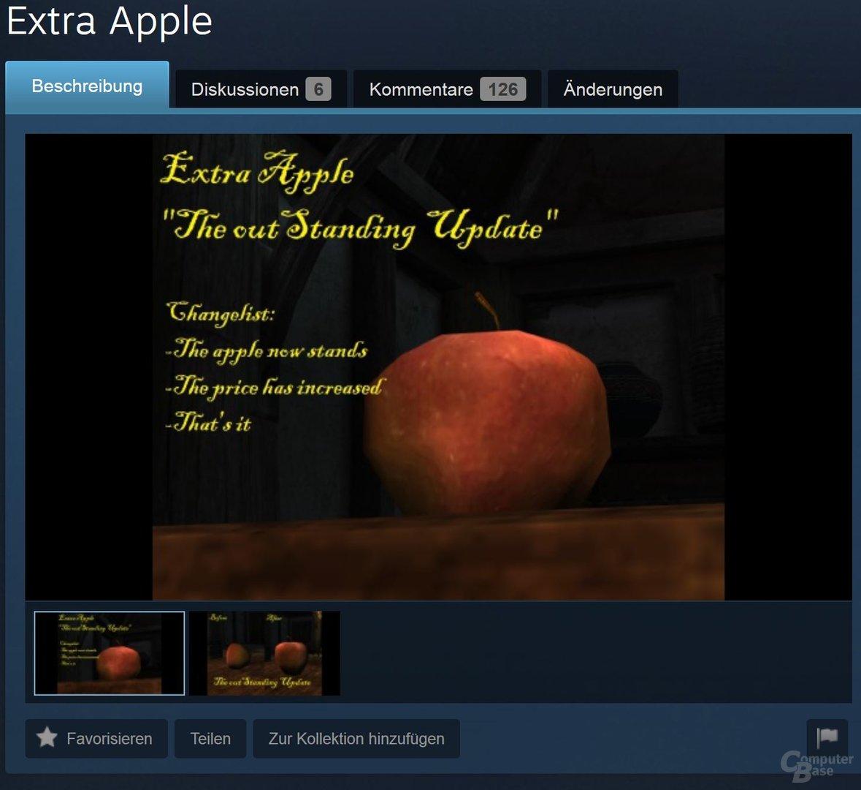 Ein weiterer Apfel: 30 US-Dollar