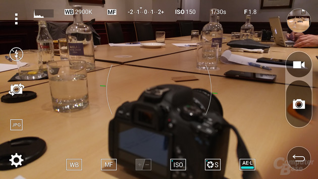 Expertenmodus der Kamera