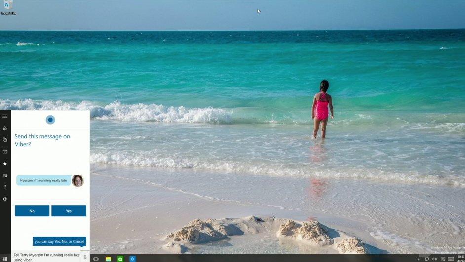 Cortana in Windows 10 Build 10075