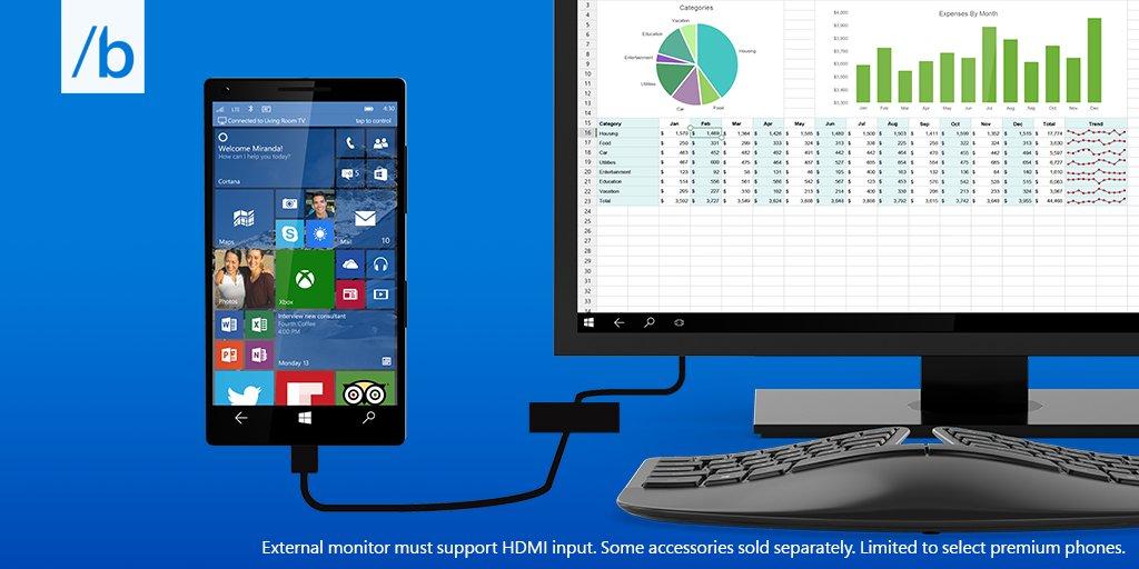 Windows 10 Continuum macht aus dem Smartphone einen PC