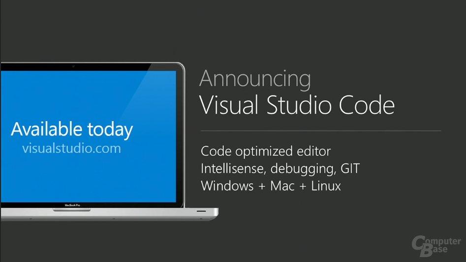 Visual Studio Code für Windows, Mac und Linux