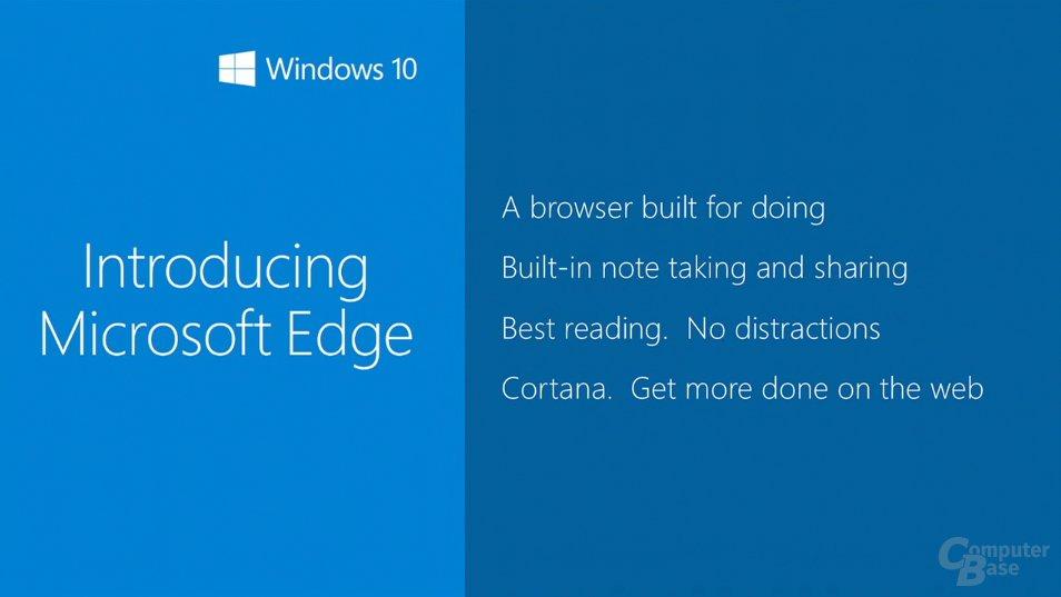 Aus Project Spartan wird Microsoft Edge