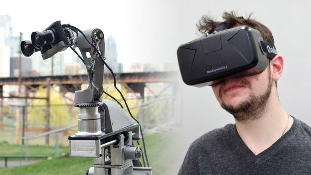 Virtuelle Realität: Roboterkamera mit Oculus Rift fernsteuern
