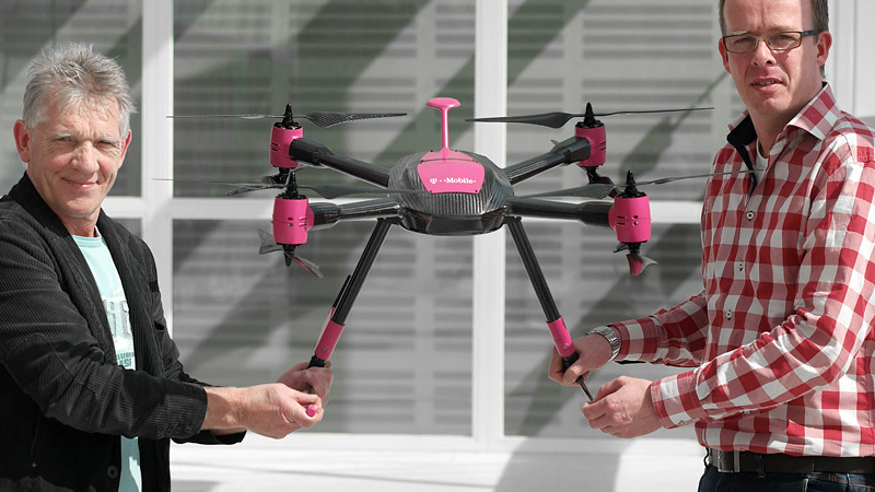 Mobilfunk: T-Mobile Netherlands nutzt Drohnen zur Inspektion
