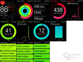 Apple Watch Sport – Aktivitätsübersicht