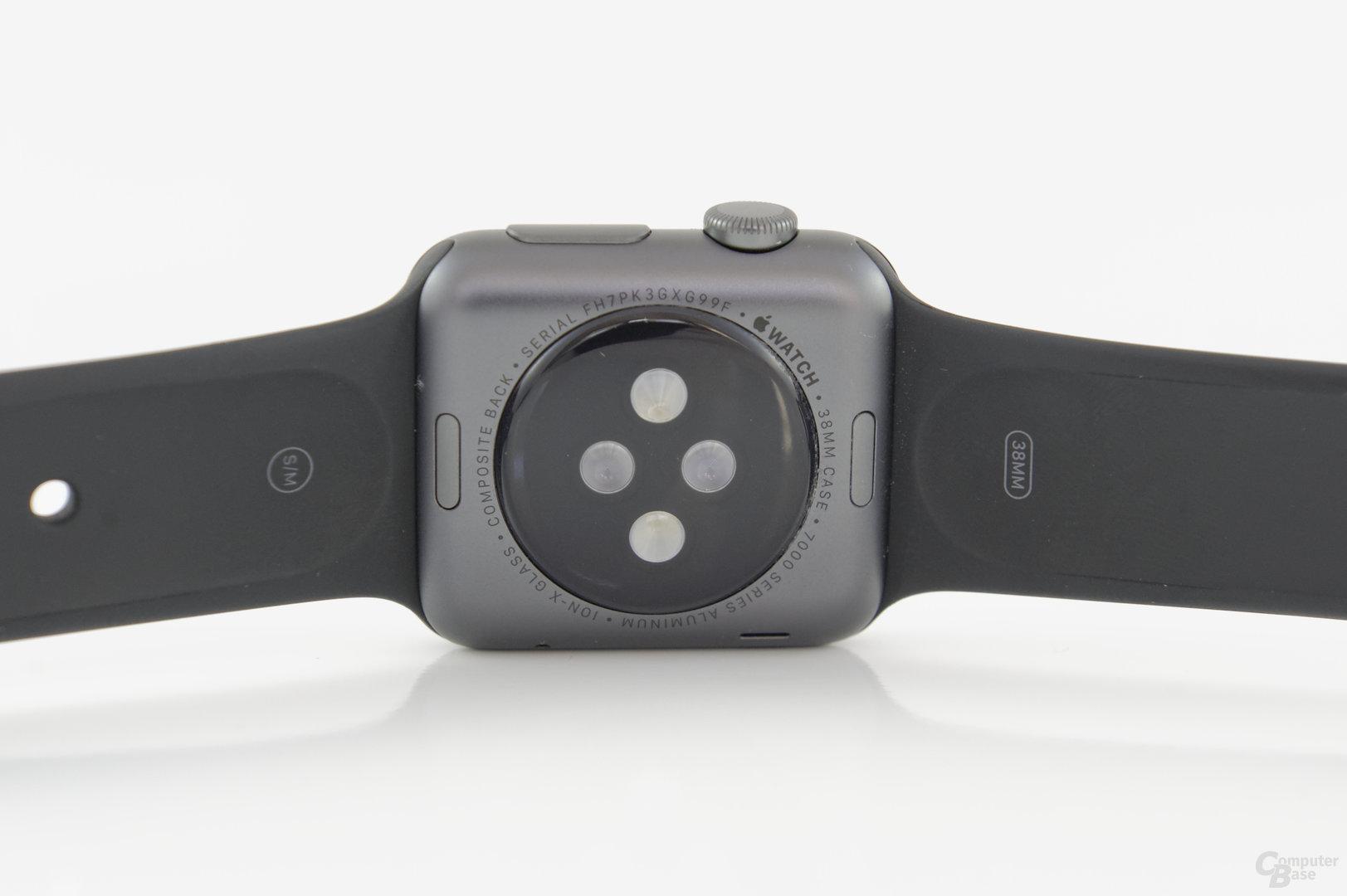 Apple Watch Sport – Gehäuseboden mit Sensoren