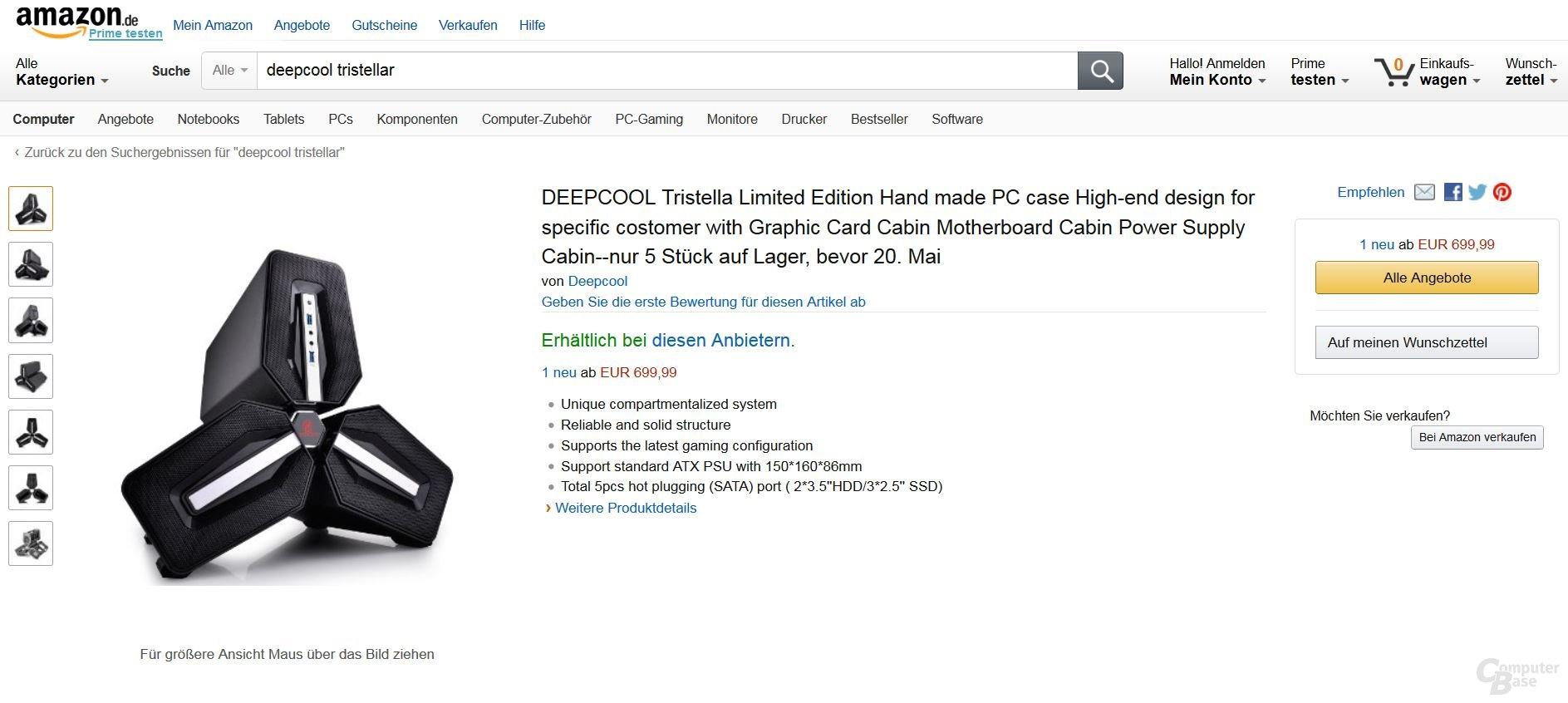 Deepcool TriStellar im Amazon-Shop