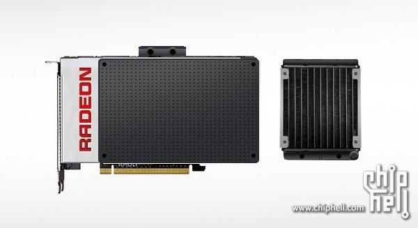 AMD Fiji – Kühler (Fotomontage)