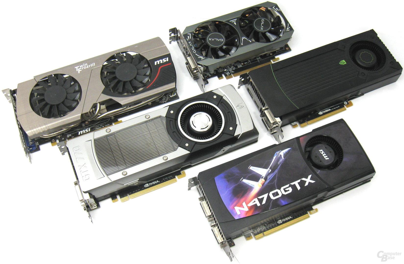 GeForce GTX 470 bis 970
