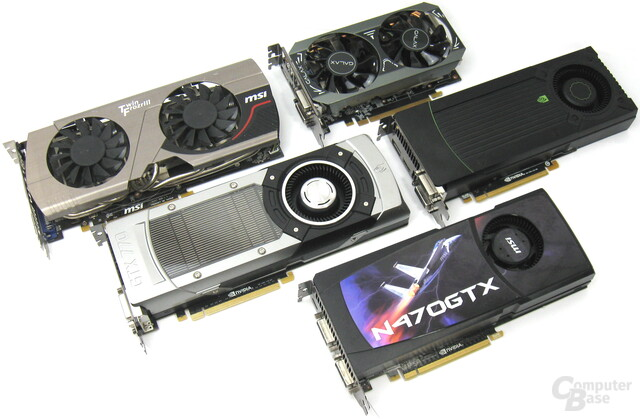 GeForce GTX 470 bis 970