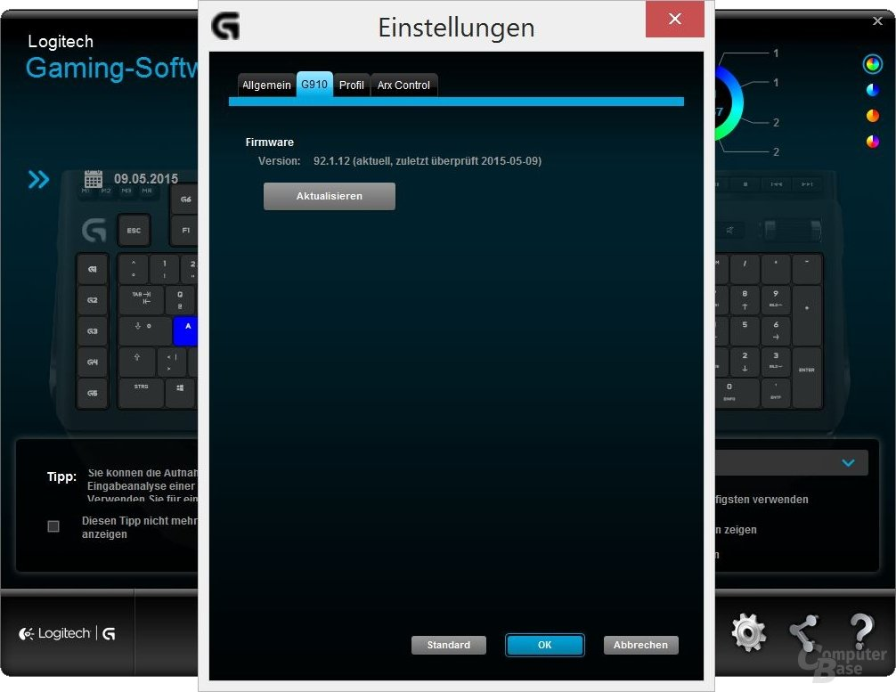 Einstellungen: Firmware-Update