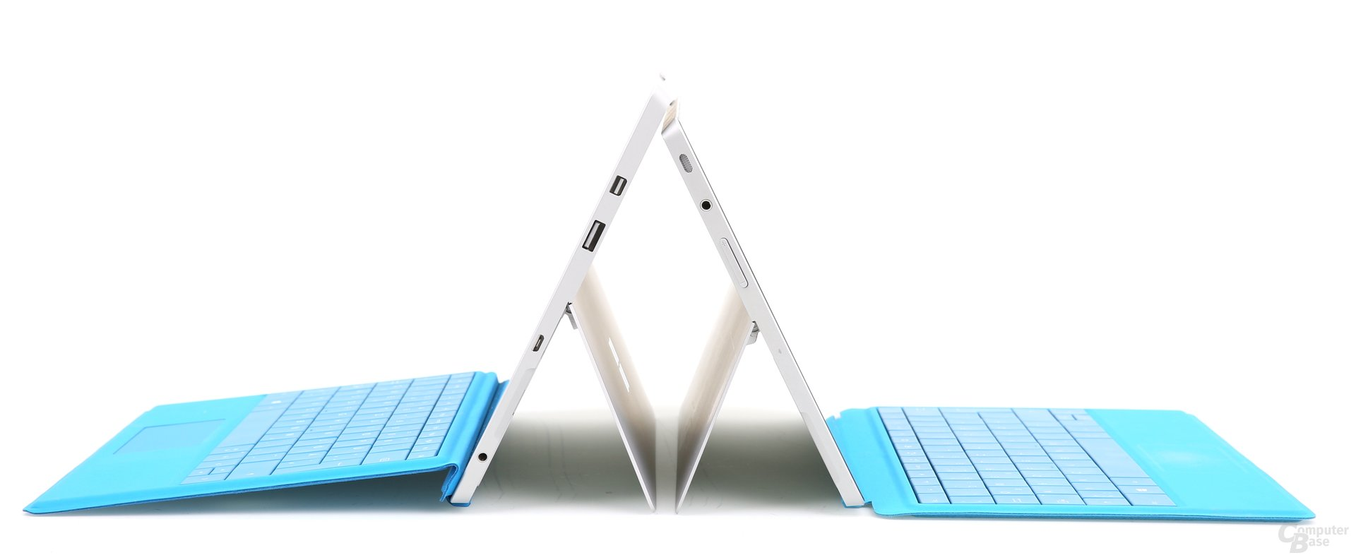 Surface 3 links und Surface 2 rechts