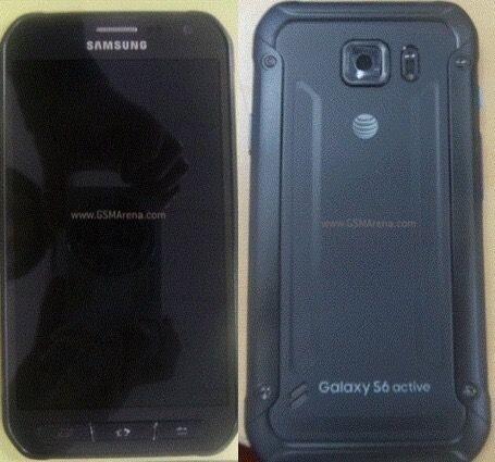 Vorder- und Rückseite des Samsung Galaxy S6 Active