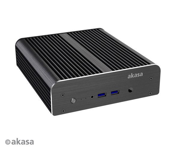 Akasa Newton S – die Front mit zwei USB-3.0-Anschlüssen