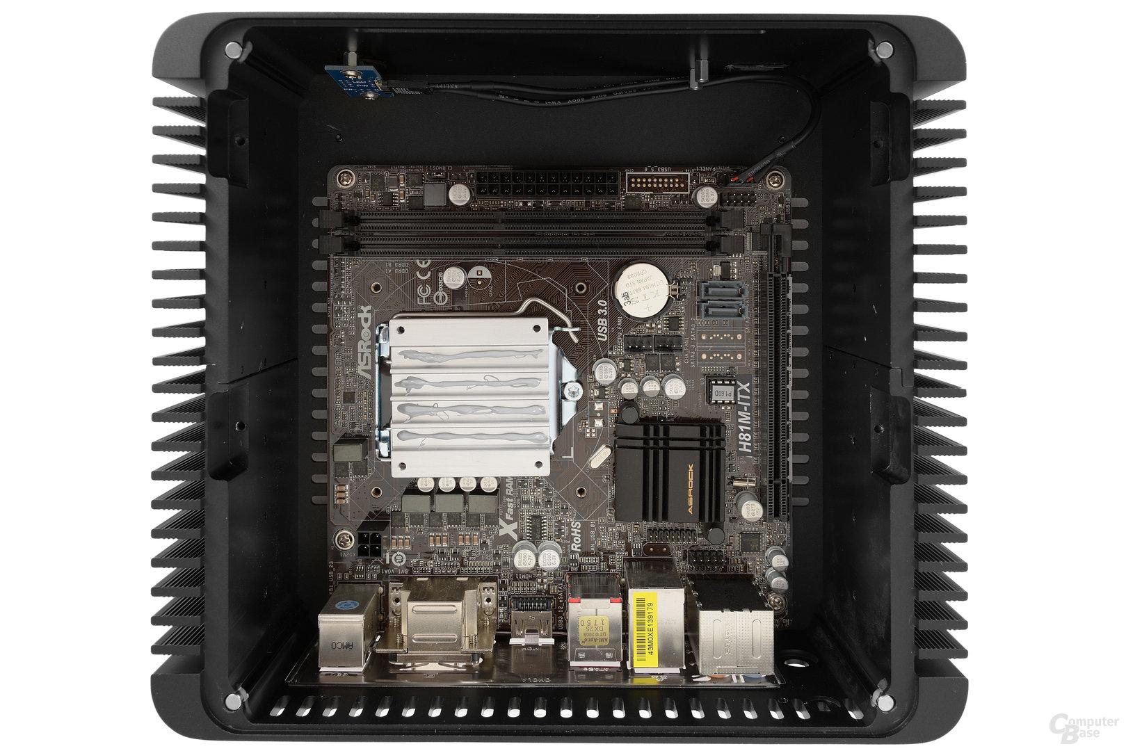 Nanum SE-TC5 – Teil des CPU-Kühlers mit Wärmeleitpaste