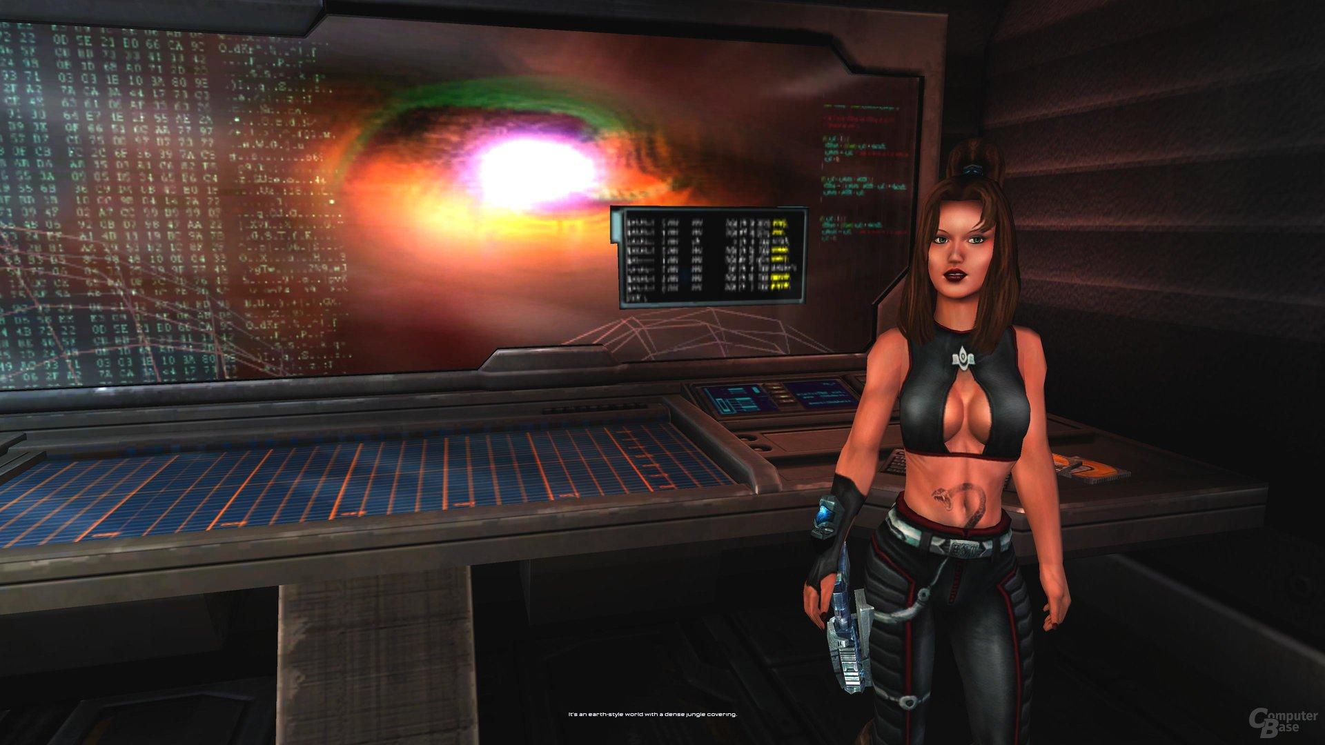 Assistentin Aida wurde mit merklich mehr Polygonen erstellt als andere Charaktere und Umgebung