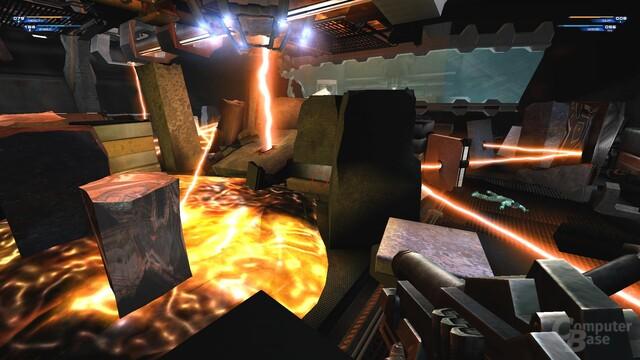 Eine der besten Szenen im Spiel: Hier zeigt Unreal 2, wie Shooter geht