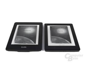 Größenvergleich Kindle Paperwhite vs. Kobo Glo HD