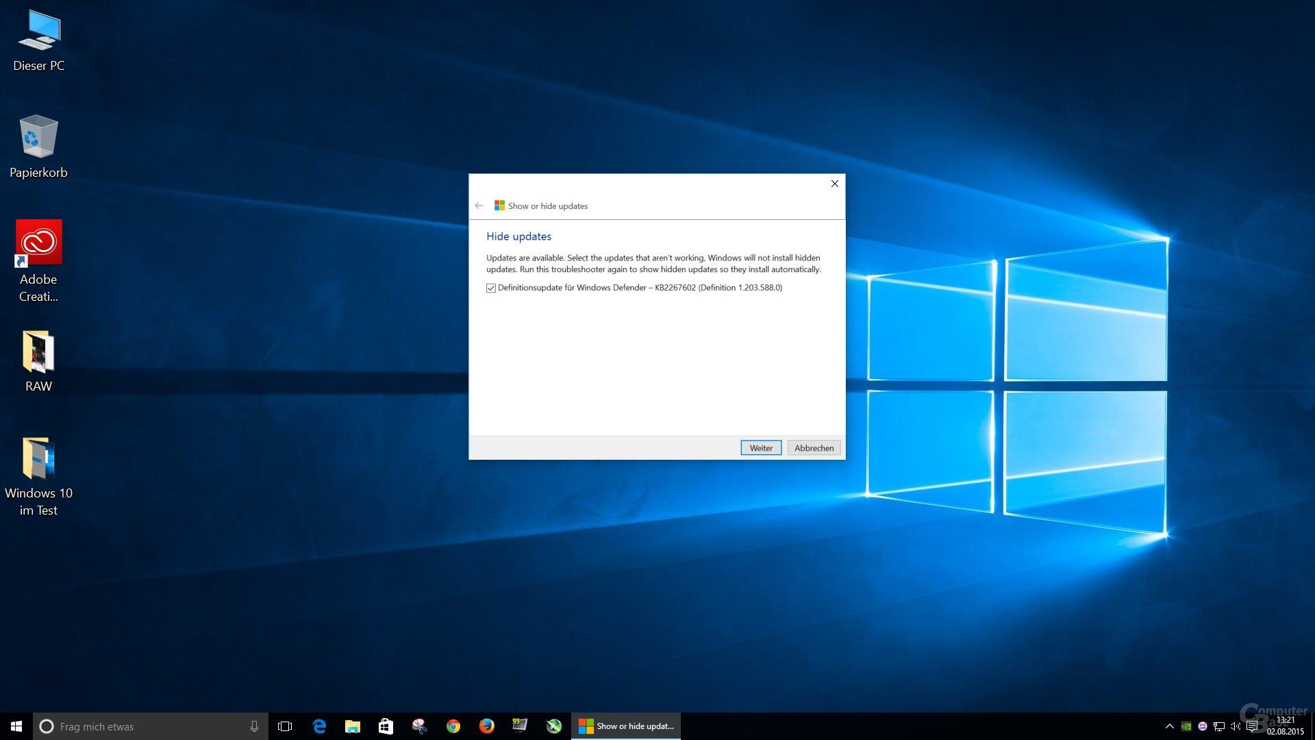 Die erneute Installation fehlerhafter Updates lässt sich unterbinden