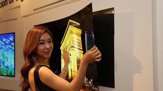 """Display-Technik: LG hängt 55""""-OLED-Panel wie ein Poster an die Wand"""