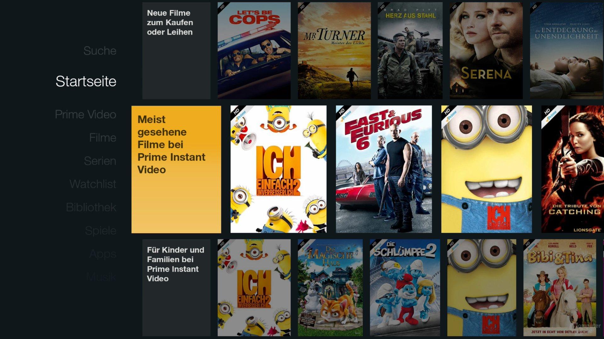 Amazon Fire TV Stick – Startseite